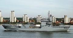 FGS Werra A514 (1) @ Gallions Reach 10-05-15 (AJBC_1) Tags: uk england london boat ship unitedkingdom military navy vessel riverthames nato warship eastlondon bundeswehr gallionsreach northwoolwich newham germannavy navalvessel londonboroughofnewham deutschemarine type404 7schnellbootgeschwader dlrblog ajc fgswerra elbeclassreplenishmentship 7thfastpatrolboatsquadron bundeswehrnavy