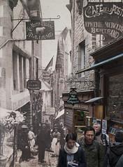 StreetSaintMichelmerged (wesleymarlissa) Tags: photoshop vintage streetphotography montsaintmichel oldandnew digitalrev henrydecans