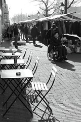 Rotterdam Impressions (g e r a r d v o n k ) Tags: street city travel people urban blackandwhite holland reflection art monochrome backlight canon eos grey this is fantastic rotterdam europe market photos outdoor expression ngc nederland lifestyle where tables unlimited whereisthis stad uit yabbadabbadoo flickraward newacademy pinnaclephotography artcityart