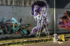 graffit man ... (Roberto Defilippi) Tags: work strada artist rodeos strret nikond7100 282016