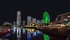 Moonlight Yokohama (Art Fiveone) Tags: reflection japan landscape nightscape nightshot  moonlight nightview yokohama kanagawa  minatomirai