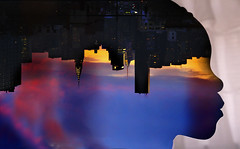 Upside Down City Silhouette (VIProduction) Tags: nyc newyorkcity blue sunset sky cloud newyork color building colors silhouette skyline clouds photoshop canon buildings photography graphicdesign colorful photographer graphic upsidedown manhattan daughter silhouettes editing illustrator outline cloudporn upside nycskyline skyscrapper iloveny nycstreets canonphotos cloudart skylover skylovers canon6d