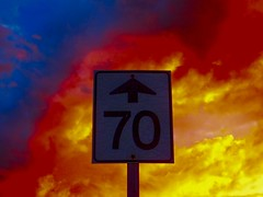 70 into Hell in La Coulee, Manitoba (ezigarlick) Tags: road sunset sky canada storm sign spring hell may manitoba thunderstorm 70 dawsonroad lacoulee dawsontrail rmofsteanne