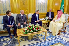 U.S. Secretary John Kerry, U.S. Ambassador Joseph Westphal, and Chief of Staff Jon Finer Sit With Crown Prince Muhammad bin Nayef (U.S. Department of State) Tags: jeddah johnkerry saudiarabia josephwestphal jonfiner kingsalman muhammadbinnayef