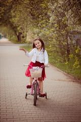 IMG_7364 (D-Ulia) Tags: city flowers sunset sun streets girl smile kids backlight fun spring twilight little blossom bokeh walk backlit walkaround bycicle