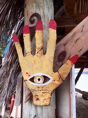 Hand Eye - BVI (verplanck) Tags: sculpture eye art folkart hand tortola bvi britishvirginislands beefisland trellisbay