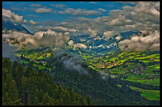 Clouds formation on The Simmental. I)mage taken on the way to the Summit of the Niesen mountain from Wimmis. Anton of Bern, Switzerland.All'alba vincerò! Vincerò! Vincerò!  No. 8771.