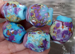 Rocks Turquoise Violet Matte (Laura Blanck Openstudio) Tags: show blue sea orange usa white abstract brick art beach glass coral festival set one beads big sand beige marine rocks colorful aqua published artist glow purple handmade stones turquoise fine arts violet lavender sienna funky jewelry lagoon pebbles kind made odd lilac earthy winner huge opaque organic kiln nuggets murano range grape lampwork multicolor raku artisan matte whimsical loose frosted openstudio asymmetric ocher speckles annealed opestudiobeads