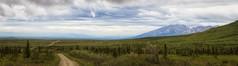 Rainy day tundra (frostnip907) Tags: panorama mist nature fog alaska landscape pano tundra taiga