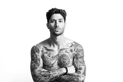 Sexy tattooed man portrait with crossed arms black and white (cleancanvas) Tags: portrait bw italy white man black sexy male guy monochrome fashion tattoo modern standing studio blackwhite model power looking adult skin muscle expression muscular chest handsome lifestyle sensual human latin attractive strength biceps fitness macho caucasian tattooed