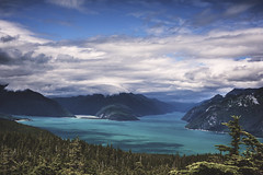 Breathless (Bokehneer) Tags: blue wild usa mountains nature beautiful alaska clouds forest river landscape haines inlet wilderness azur chilkoot