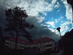 Da kommt was.... (Markus Rdder (ZoomLab)) Tags: cloud clouds wolken bluesky sonne muenster gewitter baum cloudporn wetter unwetter kappenbergerdamm zoomlab fotodinge