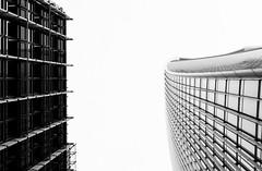 Silhouettes (lorenzoviolone) Tags: windows england blackandwhite bw london monochrome architecture skyscraper buildings blackwhite unitedkingdom finepix fujifilm skygarden walkietalkie agfascala200 mirrorless vsco vscofilm fujix100s x100s fujifilmx100s travel:uk=londonapr16