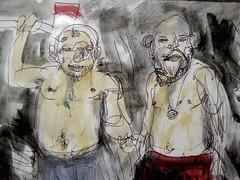 The Tarp Hunters (giveawayboy) Tags: art pen painting tampa sketch paint artist acrylic drawing crayon hunters tarp fch giveawayboy billrogers