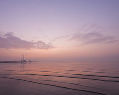 Pink Dawn (Rus) Tags: seascape dawn tripod pigeonhouse manfrotto poolbeg lightroom sandymount firstlight cablerelease dublinbay nikond5000 adobecc