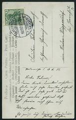 Archiv E668 Rotkppchenkarte (back), Langebrck, Poststempel 19. November 1908 (Hans-Michael Tappen) Tags: stamps postcard ephemera 1908 1900s briefmarke poststempel langebrck 1900er archivhansmichaeltappen rotkppchenkarte
