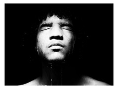 Untitled (Chevy Jordan) Tags: portrait bw white man black male water self nude shower image body narcissus