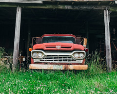 """""""Farm Truck"""" (D A Baker) Tags: old ford up barn truck rust farm pick"""
