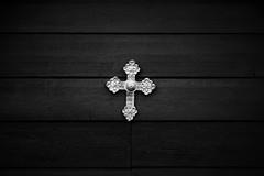 croce (marcobertarelli) Tags: faith protect cross inrii jesus wood gold light shine bw contrast