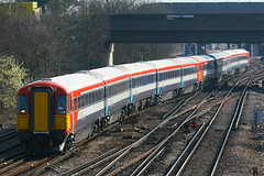 2414, Gatwick Airport, March 18th 2009 (Suburban_Jogger) Tags: railroad travel public electric train canon march spring westsussex transport railway vehicle passenger gatwickexpress 2009 30d gatwickairport 2414 londonvictoria plasticpig class442 wessexelectric 442414 multipleunt