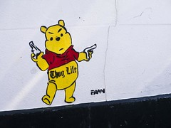 graffiti (friendlydrag0n) Tags: bear street art wall graffiti spray pooh graffito winnie