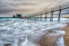 Stormy weather (Rob Reaburn Photography) Tags: ocean sea wild storm beach bay pier sand waves jetty australia victoria foam surge suds hightide portphillipbay