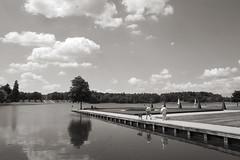 Rheinsberg/Brandenburg (elisachris) Tags: sky blackandwhite nature water landscape wasser natur himmel landschaft brandenburg ricohgr rheinsberg schwarzweis