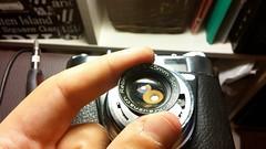 fixing shutter of #kodak #retinette it works well but timer #schneiderkreuznach #analog #camera #film (astroidceyhun) Tags: camera film analog kodak retinette schneiderkreuznach