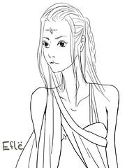 Efl_Sketch (Sol's House of Flapjacks) Tags: sa seiko solshouseofflapjacks elf sketch drawing art anime manga female digital freedraw original character lineart