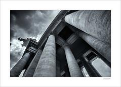 Rome....rising (Zino2009 (bob van den berg)) Tags: rome roma holiday vacation city capitol italy zino2009 bobvandenberg summer vatican palace high up rising pilasters