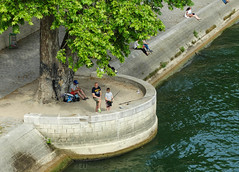 Fishing along the River Seine (eutouring) Tags: paris france city life citylife pariscitylife travel fish fishing river riverseine seine hobby