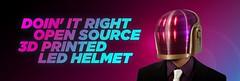 Daft Punk Helmet Banner (adafruit) Tags: 3d punk open helmet banner led printing hero daft printed source
