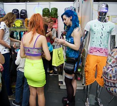 Hyper Japan 2016 2 (Terterian - A million+ views, thanks.) Tags: kensington london capital city uk olympia victorian exhibition centre venue hyper japan 2016 july japanese nippon nipponese culture pastel childlike innocent costume tradition festival art music martial pretty beautiful sexy lolita lollita girls female woman attractive happy smile alternative fashion fashionable models punk blue hair pierced studs stockings cyberdog