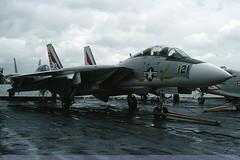 159609/AB-121 - F-14A Tomcat - US Navy / VF-14 - USS John F Kennedy - Portsmouth - 23-Oct-76 (THE Graf Zeppelin) Tags: portsmouth aircraftcarrier usnavy usn tomcat grumman ussjohnfkennedy f14a fighteraircraft spithead vf14 19761023 159609