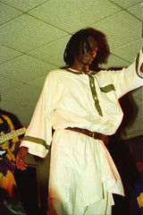 Baaba Maal Senegalese singer and guitarist born in Podor on the Senegal River at the Equator Club Philadelphia April 1994 141 (photographer695) Tags: baaba maal senegalese singer guitarist born podor senegal river equator club philadelphia april 1994