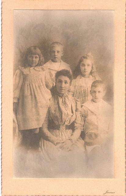 Mrs Ronald McConnell and four children