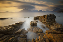 BLUE N' GOLD (Steve Boote..) Tags: longexposure sunset sea sky cloud seascape mountains landscape coast scotland isleofskye innerhebrides dusk coastline gitzo cuillin elgol sigma1020f456exdchsm hoyafilters ndx400 canoneos7d singhrayfilters 9stop nd3reversegrad