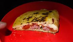 The mozzarella melts!