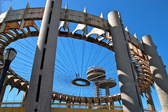 New York State Pavilion (quiggyt4) Tags: park nyc newyorkcity panorama newyork model gm expo manhattan plan flushingmeadows queens un moses planning corona unitednations pavilion gothamist gotham mets worldsfair unisphere worldfair usopen generalmotors nycparks robertmoses nymets ronpaul newyorkstatepavilion usta ows flushingpark occupy newyorkpanorama panoramamodel occupywallstreet