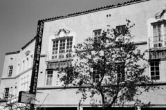 Coconut Grove Playhouse (Phillip Pessar) Tags: bw film analog 35mm florida zoom grove kodak coconut infinity tx olympus 400 playhouse 70