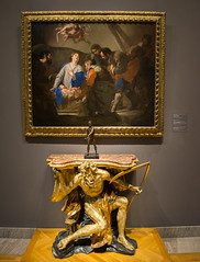 Adoration of the Shepherds with Chronos console table - Cleveland Museum of Art - 2014-11-26 (Tim Evanson) Tags: art museum cleveland clevelandohio artmuseum clevelandmuseumofart
