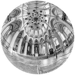 Grote Kerk van Dordrecht (Marjan van de Pol) Tags: favorite canon zwartwit nederland fisheye fave dordrecht kerk grotekerk 6d zuidholland faved canon6d canon815