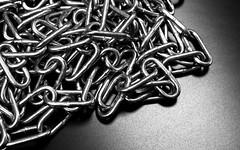 Chain Reaction (Stetch42) Tags: bw metal 50mm chains nikon shine sigma gloss d800