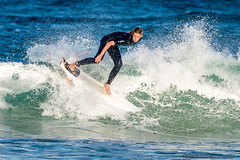 Tallow Beach Surfers (sbyrnedotcom) Tags: blue sea beach sports surf waves action australia surfing nsw surfers tamron byronbay tallowbeach