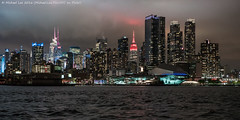 Night Ferry (DSC05033) (Michael.Lee.Pics.NYC) Tags: newyork ferry night nikon cityscape cloudy sony esb hudsonriver empirestatebuilding midtownmanhattan intrepidseaairspacemuseum nikkor50mmaf18d a7rm2