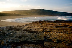 Fading sun on rock platform (jack eastlake) Tags: new lake beach rock point coast picnic south platform valley tathra geology shire far formations bega wapengo