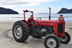 Coromandel Peninsula May 2014 (marnieandandrew) Tags: newzealand tractor beach coromandelpeninsula masseyferguson