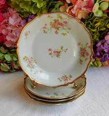 Vintage Limoges Porcelain Soup Bowls ~ Roses ~ Gold Gilt (Donna's Collectables) Tags: roses vintage soup gold bowls porcelain ~ gilt limoges