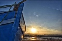 Rope (Nige H (Thanks for 4.8m views)) Tags: sunset england nature landscape boat rope estuary devon bow lowtide exmouth riverexe