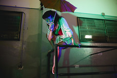 (Nowhere land ) Tags: portrait woman girl umbrella pose mujer chica retrato posing paraguas colourlights